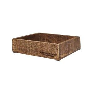 STANDARD SUPPLY Holzkasten quadratisch