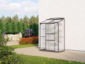 """Vitavia Anlehngewächshaus """"Styx"""", 4 mm HKP, Aluminium, mit Schiebetür und Dachfenster"""