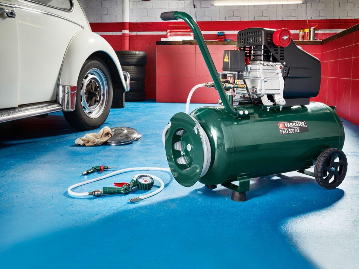 Bild 2 von PARKSIDE® Kompressor »PKO 500«, 50 l Kessel, mit 10 m Druckschlauch, stufenlos regelbar