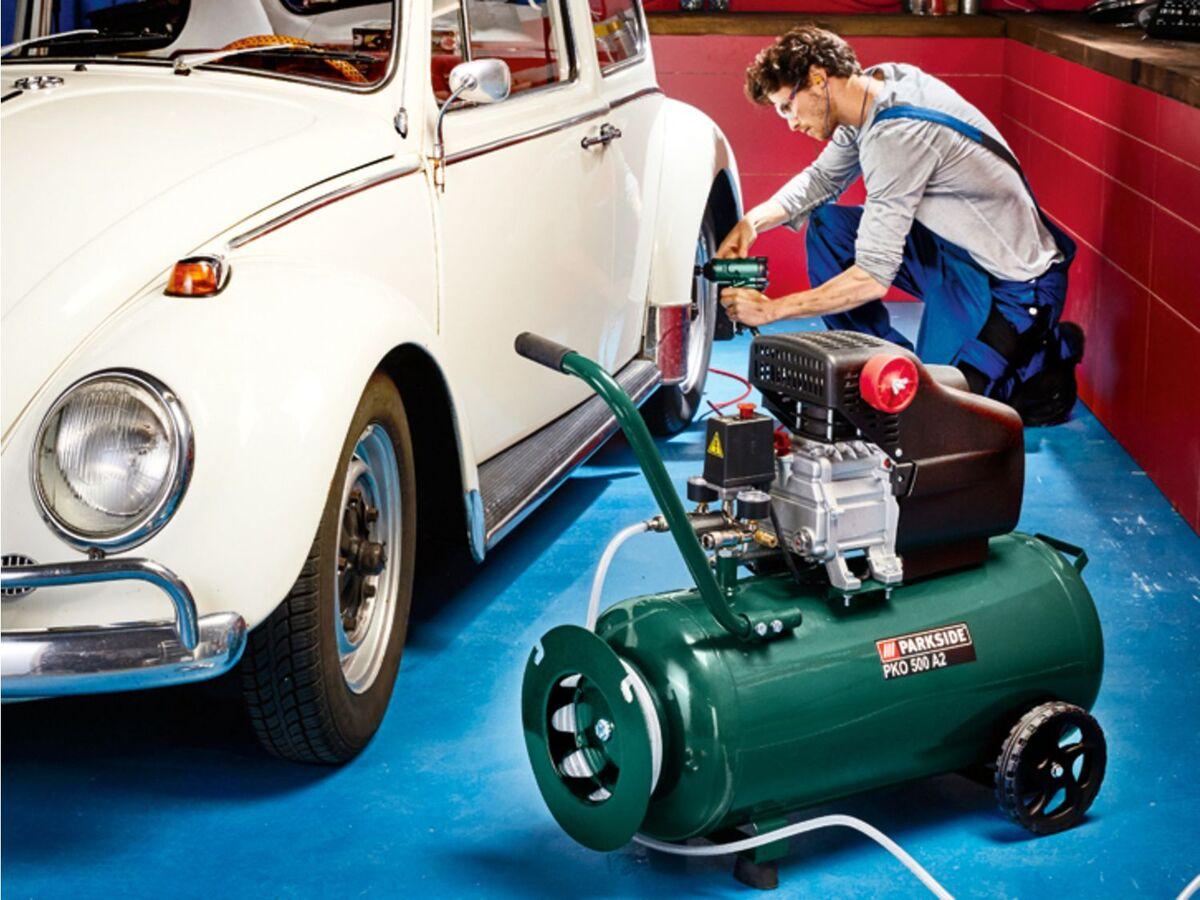 Bild 4 von PARKSIDE® Kompressor »PKO 500«, 50 l Kessel, mit 10 m Druckschlauch, stufenlos regelbar