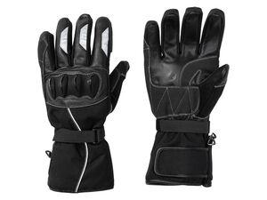CRIVIT® Motorrad Handschuhe, mit Wattierung, mit Ledereinsätzen, wind- und wasserdicht