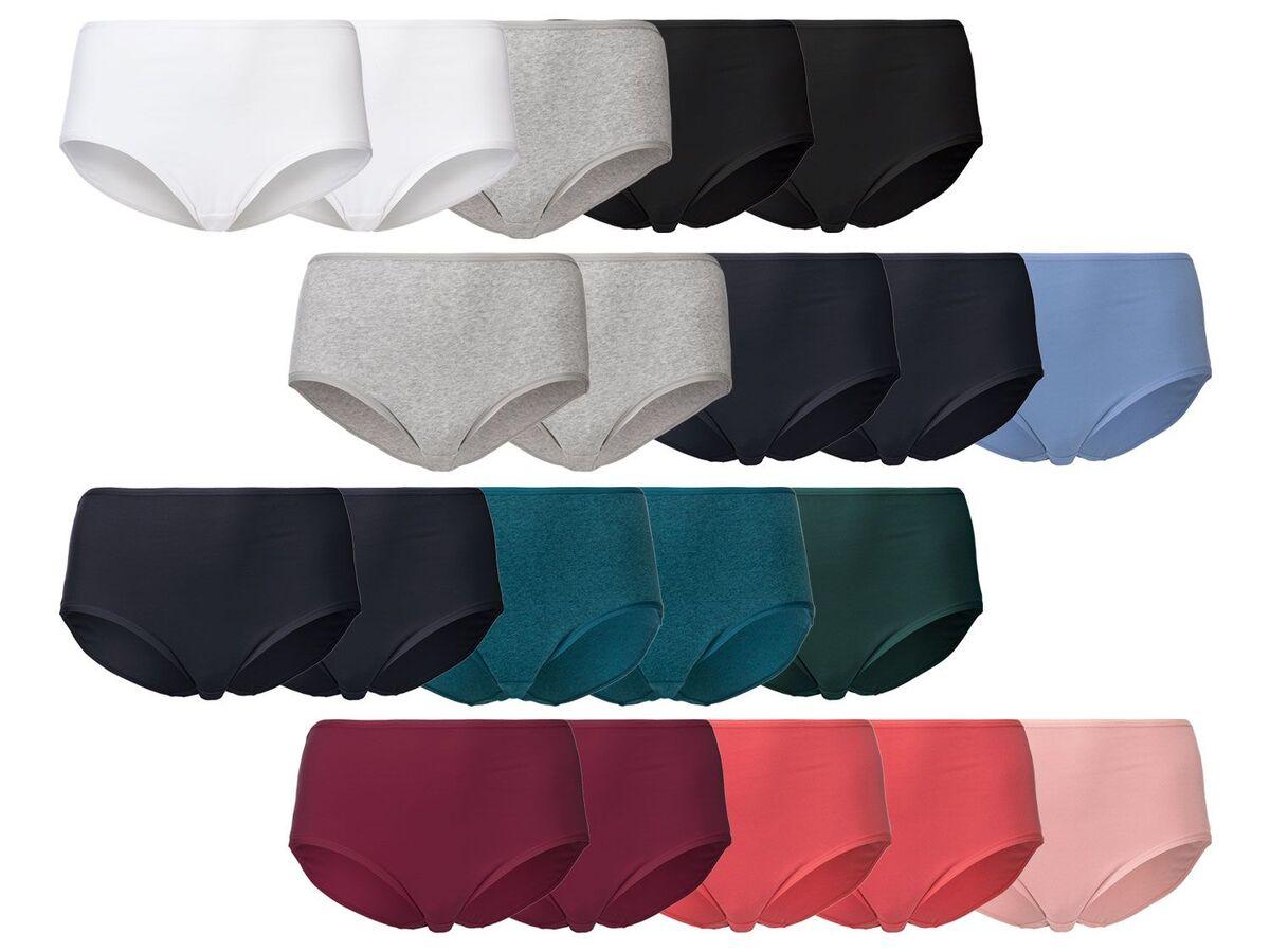 Bild 1 von ESMARA® Lingerie Slip Damen, 5 Stück, enthält Baumwolle und Elasthan