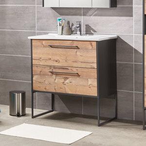Bad-Waschtisch Living Style Milano, inkl. Keramik-Waschbecken