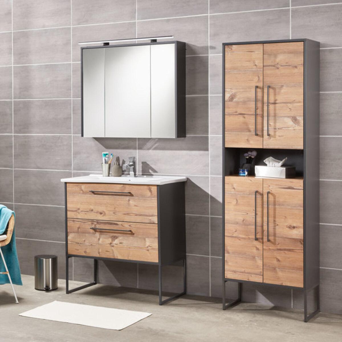 Bild 2 von Bad-Waschtisch Living Style Milano, inkl. Keramik-Waschbecken