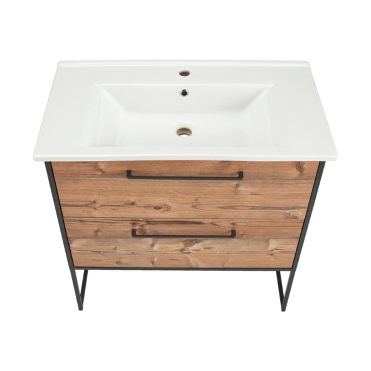 Bild 5 von Bad-Waschtisch Living Style Milano, inkl. Keramik-Waschbecken