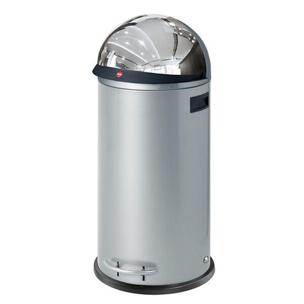 Hailo KickVisier XL Großraum-Abfallboxen, silber
