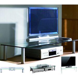 """VCM TV-Aufsatz TV Glasaufsatz Monitor Erhöhung Fernseh Aufsatz Glas """"Felino"""""""