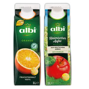 Albi Orange, Heimischer Apfel oder Himbeer-Maracuja-Apfel