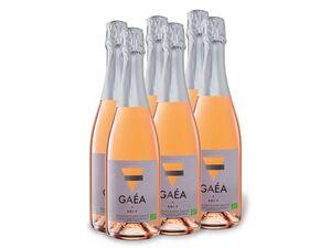 6 x 0,75-l-Flasche Weinpaket BIO Gaéa rosé brut, Schaumwein