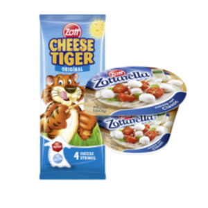 Zottarella Minis oder Cheese Strings Tiger