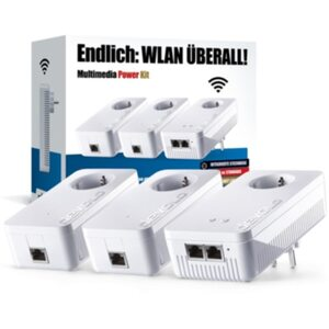 devolo dLAN Multimedia Power Kit (1200Mbit, Powerline + WLAN ac, GigaBit LAN)