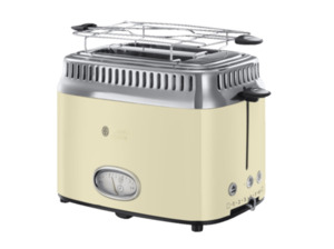 RUSSELL HOBBS 21682-56 Retro Vintage Cream Toaster in Creme/Edelstahl