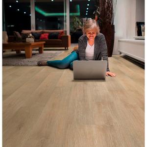 Vinylboden 'Scandic Oak' 122 x 18 cm eiche