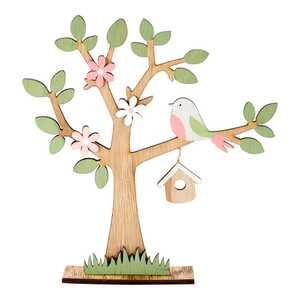 Deko-Baum mit schönem Frühlings-Motiv, ca. 23x5x25cm