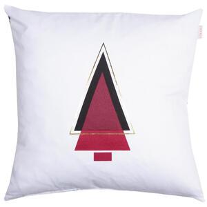 KISSENHÜLLE Rot, Schwarz, Weiß, Goldfarben 45/45 cm