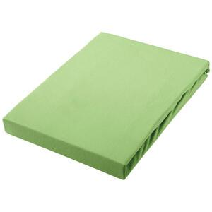 SPANNBETTTUCH Jersey Grün bügelfrei, für Wasserbetten geeignet
