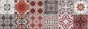 Wandfliesen Milano Patchwork Inserto, 25x75cm, Stck 4 25 x 75 cm