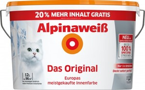 Alpinaweiß Das Original 12 l, weiß, matt