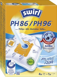 Swirl Staubsaugerbeutel PH 86 AirSpace 4 Staubbeutel + 1 Filter