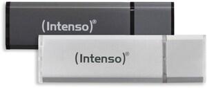 Alu Line USB 2.0 (32GB) 2er Pack Speicherstick anthrazit/silber