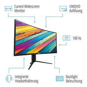 MEDION AKOYA® X53411 86,4 cm (34'') Curved Widescreen-Monitor mit UWQHD-Auflösung, HDMI®, 100Hz, Adaptive Sync