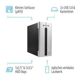 MEDION AKOYA® E62001, Intel® Core™ i5-9400, Windows10Home, 128 GB SSD, 1 TB HDD, 8 GB RAM, Hot-Swap Festplattenwechselrahmen, Multimedia PC