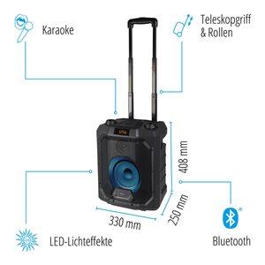 MEDION Sparpaket 2x LIFE® P61988 Trolley Partylautsprecher mit Bluetooth®, LED-Display, Karaoke Funktion, Bass Boost, farbige LED-Lichter, ausziehbarer Teleskopgriff & Rollen, integr. Akku