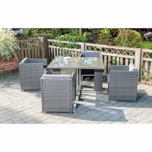 Rattan-Lounge-Set »Sorrento« Cube-Design 5-tlg.