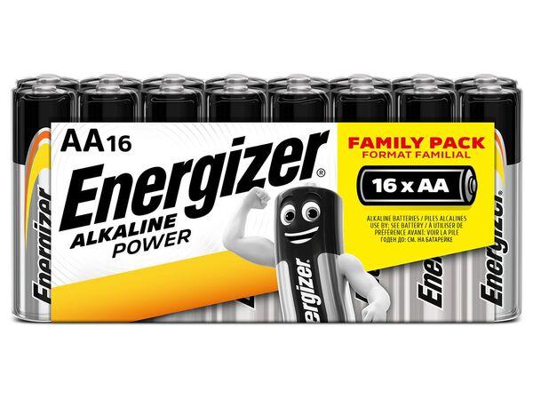 Energizer  Alkaline Power Schlauchware Mignon AA Batterie 16 Stück