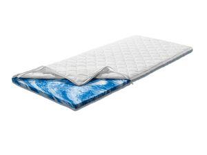MERADISO® Matratzentopper, 160 x 200 cm, aus Gelschaum, atmungsaktiv, Bezug waschbar