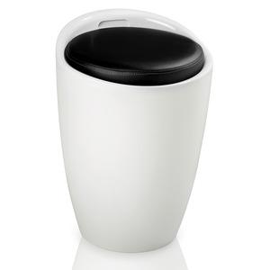 Badhocker mit Stauraum schwarz/weiß