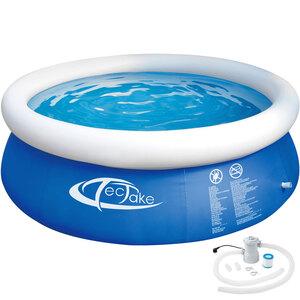 Swimming Pool rund mit Filterpumpe Ø 300 x 76 cm