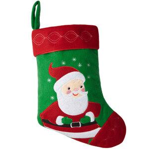 Nikolausstiefel mit Weihnachtsmann-Motiv