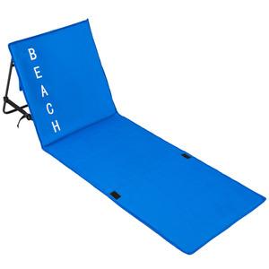 Strandmatte mit verstellbarer Lehne blau
