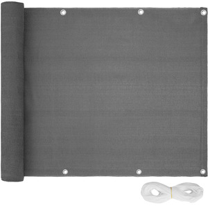 Balkon Sichtschutz, Variante 2 grau 90 cm
