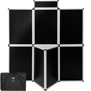 Messewand 200x180cm schwarz