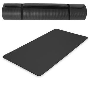 Yogamatte aus Schaumstoff schwarz 185 x 80 x 1,5 cm