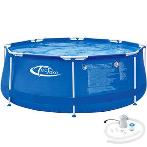 Swimming Pool rund mit Stahlrahmen und Filterpumpe Ø 300 x 76 cm