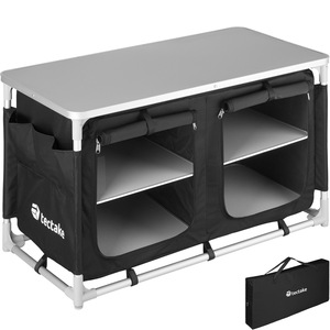 Campingküche 97x47,5x56,5cm schwarz