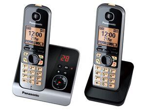 Panasonic KX-TG6722GB DECT Telefon Duo schwarz
