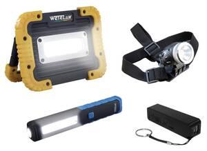 COB LED Mega-Set + Powerbank Wetelux