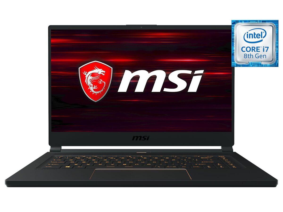 "Bild 1 von MSI GS65 8SF-264DC Gaming Laptop - 15"" FHD / i7-8750H / 16GB RAM / 512GB SSD / RTX 2070 8GB / Win 10 Home"