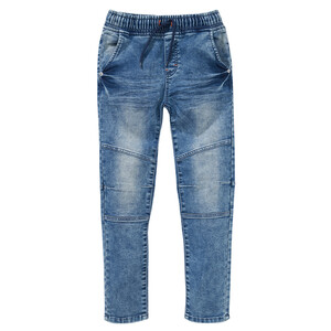 Jungen Pull-on-Jeans mit Used-Waschung