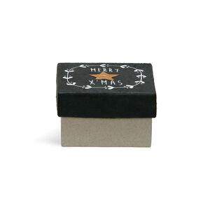 Geschenkbox X-Mas, L:10cm x B:10cm, schwarz