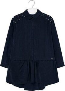 Kinder Kleid mit Nieten dunkelblau Gr. 164 Mädchen Kinder