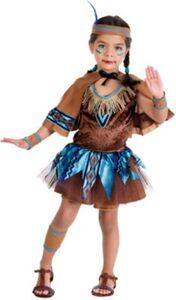 Kostüm Indianerin mit Cape Gr. 152/158