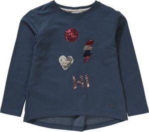 Sweatshirt mit Wendepailletten  blau Gr. 116/122 Mädchen Kinder