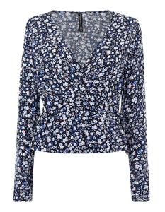 Damen Bluse mit floralen Allover -Muster