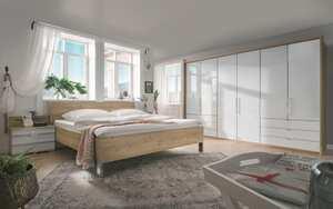 Wiemann - Schlafzimmer Loft in weiß/Bianco Eiche-Optik