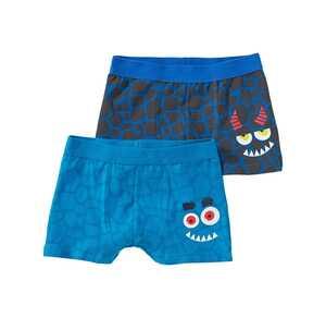 Jungen-Retroshorts mit Monster-Design, 2er Pack
